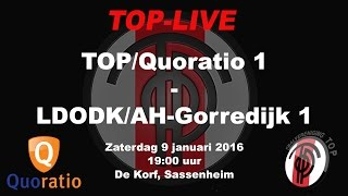 TOP/Quoratio 1 tegen LDODK/AH-Gorredijk 1, zaterdag 9 januari 2016