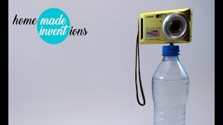 Perfect idea about reusing 0,5 liter plastic bottle - tripod