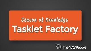 Dynamics NAV on the go - Tasklet Factory