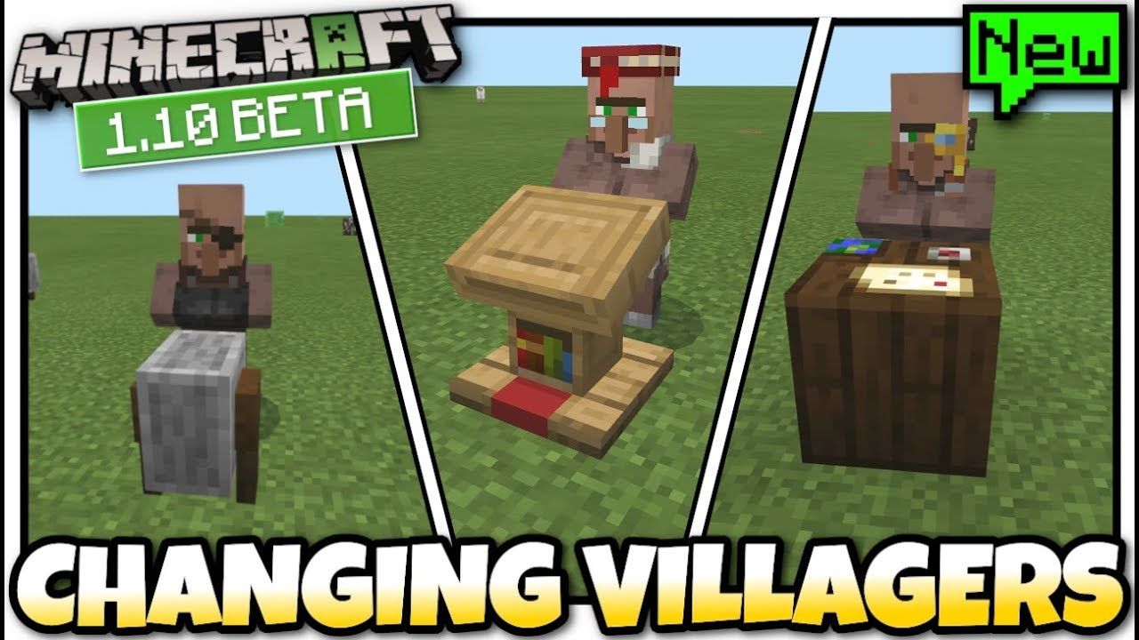 Minecraft - CHANGING VILLAGERS ? 11.111 BETA [ Tutorial ] MCPE / Bedrock /  Xbox / Switch