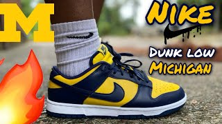 NIKE DUNK LOW MICHIGAN REVIEW AND ON FEET!! 🔥