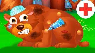 Врач ветеринар игровой мультик Лечим животных видео для детей про животных веселая игра.FGGTV