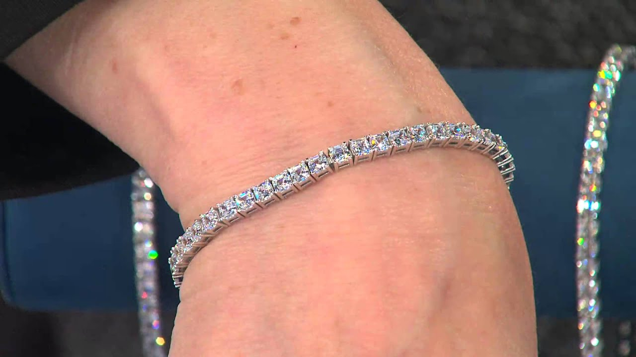 Epiphany Diamonique Cher Cut Tennis Bracelet With Mary Beth Roe
