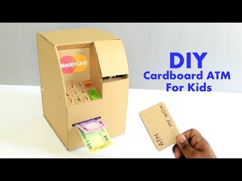 How to Make an ATM Machine from Cardboard for Kids DIY at Home