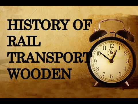 History of rail transport,wooden