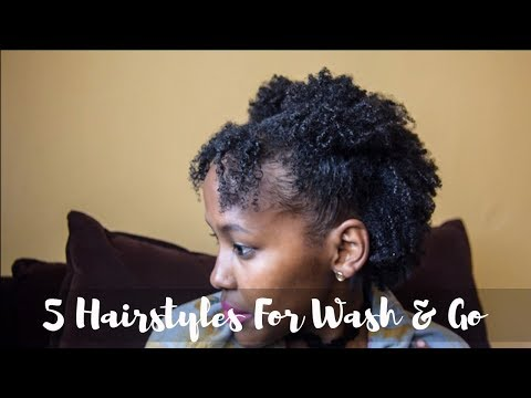 5 Hairstyles For Wash & Go | Thin & Fine Natural Hair