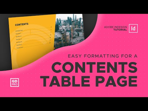 Adobe InDesign • Simple Contents Page Tutorial thumbnail