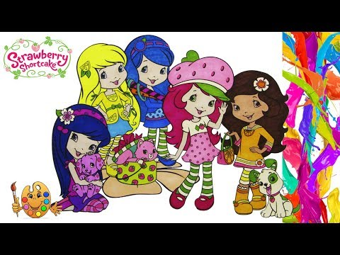 Strawberry Shortcake with Friends | Coloring pages for kids | Coloring book |