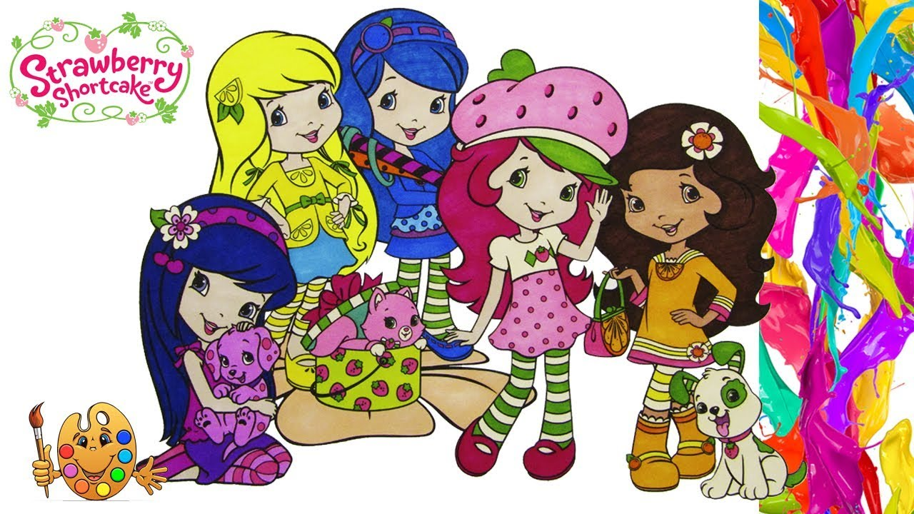 Strawberry Shortcake with Friends | Coloring pages for kids ...