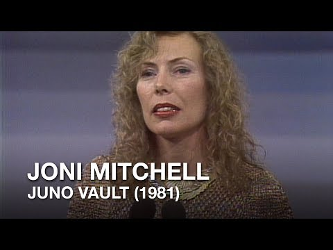 Joni Mitchell inducted into Canadian Hall of Fame (1981) | JUNOS Vault