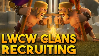 """JOIN A CLASH OF CLANS """"LEAGUE/TOURNAMENT"""" - LWCW (Light Weight Clan Wars) - Top War Clans Recruiting"""