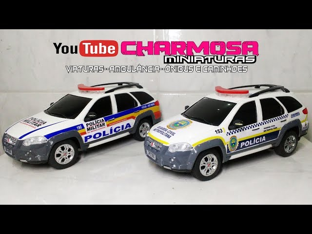Miniatura  Palio weekend militar Policia PM 1/18  Minas Gerais e Viatura Guarda Municipal