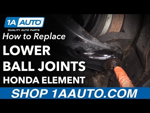 How to Replace Lower Ball Joints 03-11 Honda Element