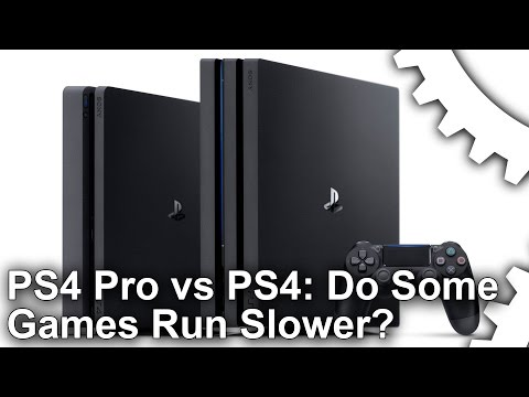 Why are some PS4 Pro titles running slower than base hardware