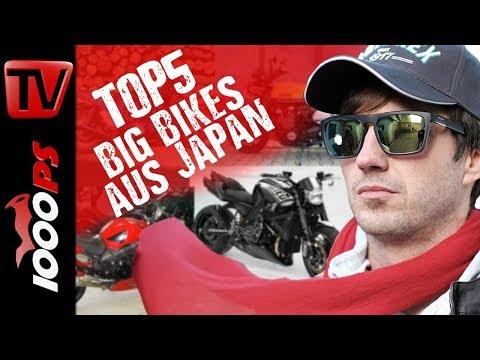Top 5 Big Bikes - Nackte Hubraummonster aus Japan