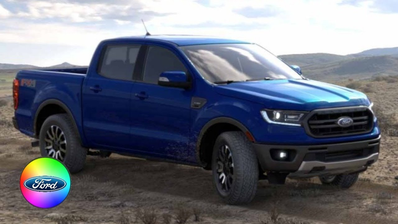 2019 FORD RANGER COLORS - YouTube