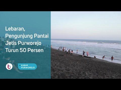 Lebaran, Pengunjung Pantai Jetis Purworejo Turun 50 Persen