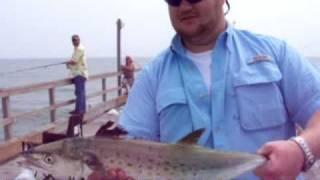 Catching Fish at Bob Hall Pier in Corpus Christi Texas