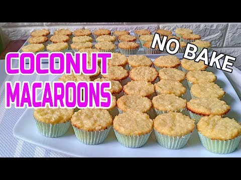 No Bake Coconut Macaroons   How to make Coconut Macaroons   Coconut Macaroon