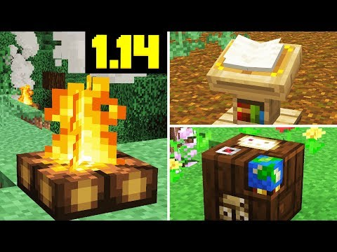 NEW CAMPFIRE UPDATE! Cartography Table, Lecterns (Minecraft 1.14 Snapshot) thumbnail