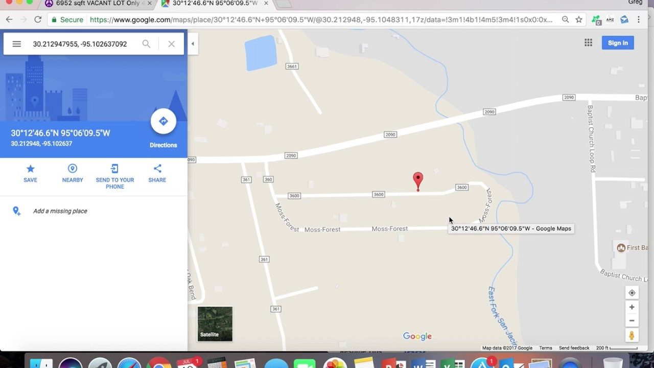 how to enter coordinates in google maps