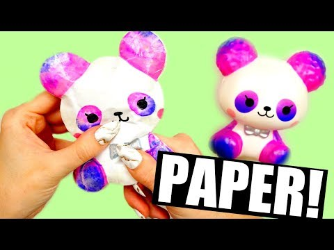 DIY PAPER SQUISHY | iBloom Cotton Candy Panda