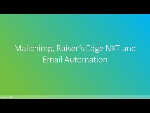 Zeidman Development | Mailchimp, Raiser's Edge NXT and Email Automation