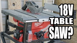 Milwaukee FUEL M18 Cordless Table Saw Review