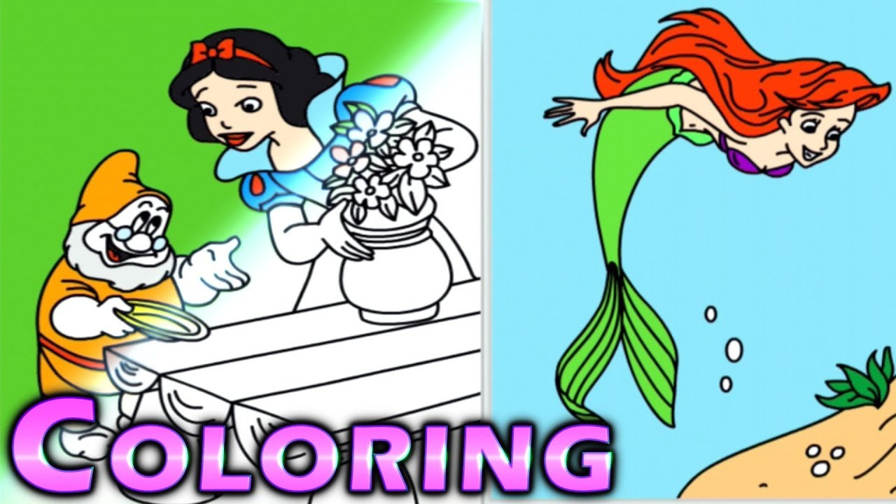 Disney Princess How To Draw And Color For Kids Snow White ...