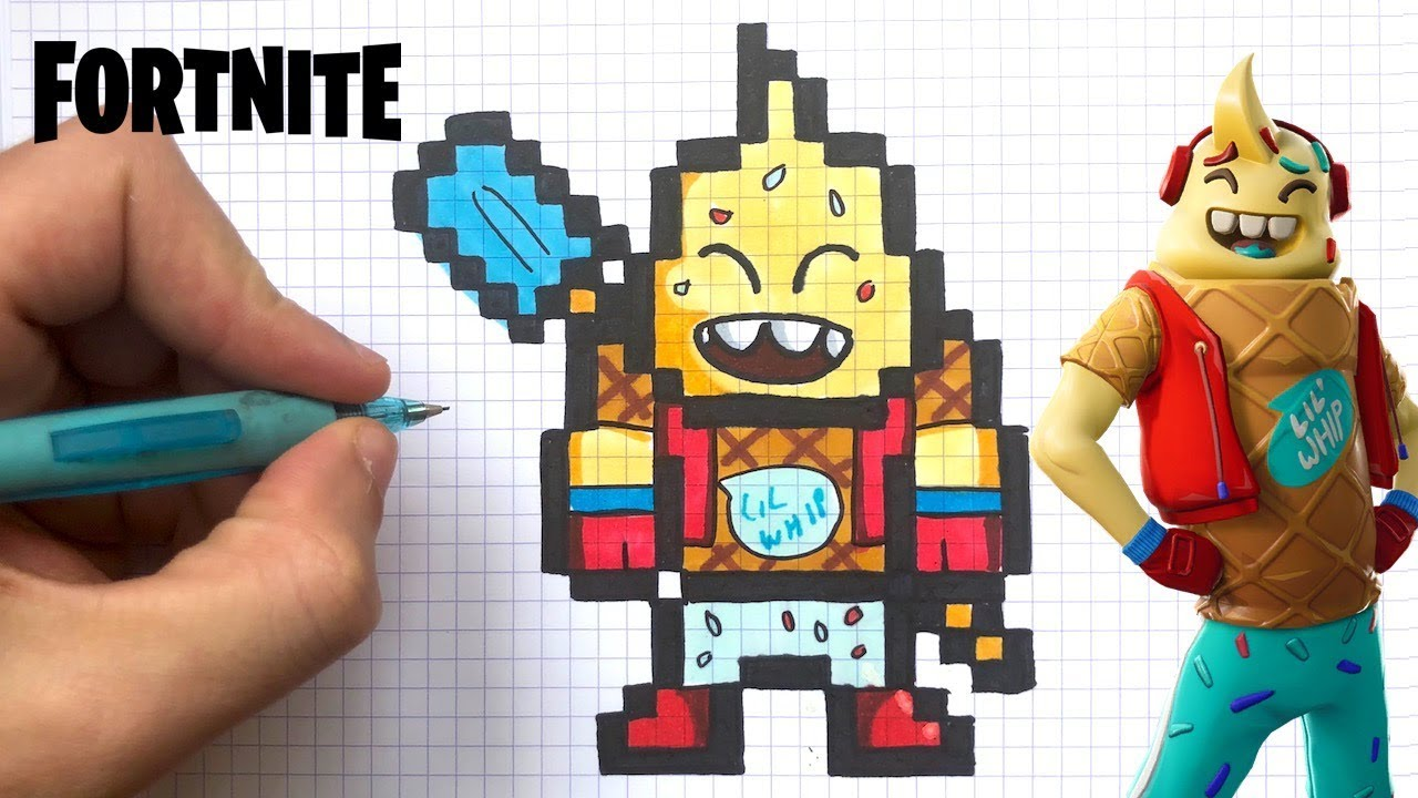 How To Draw Icecream Fortnite Pixel Art