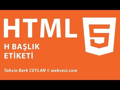 HTML H1 Başlık Etiketi Nedir? Nasıl Kullanılır? H1, H2, H3, H4, H5, H6