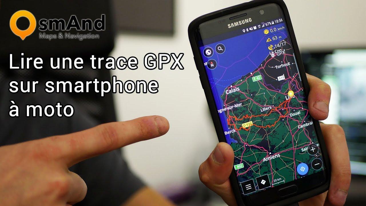 Importer un fichier GPX dans votre Smartphone
