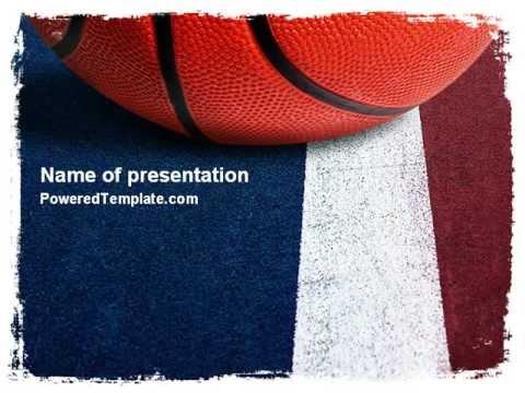 basketball ball powerpoint template by poweredtemplate com youtube