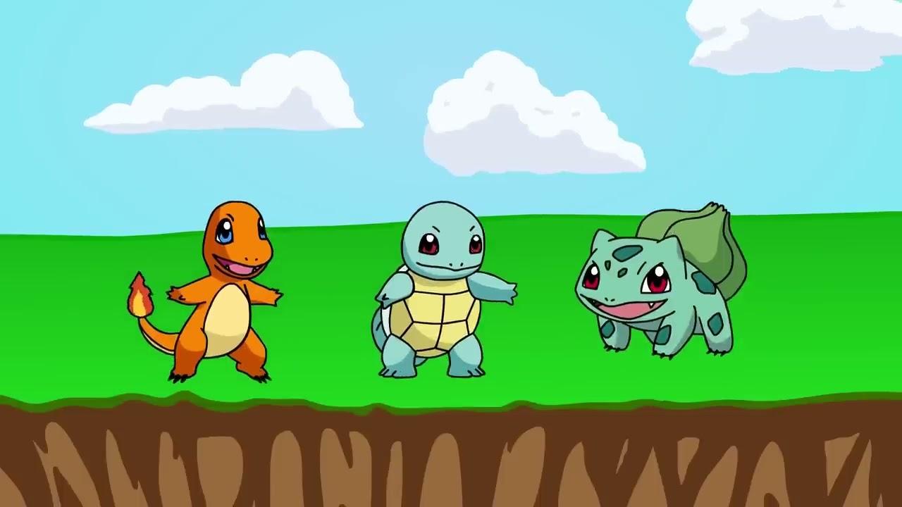 Dibujos Para Colorear De Charmander: CINCO BEBÉS 🌟 POKEMON Pikachu Charmander Squirtle