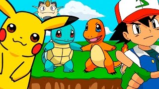 🌟 CINCO BEBÉS 🌟 POKEMON Pikachu Charmander Squirtle Bulbasaur Mew | Dibujos y Canciones Infantiles