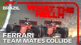Vettel And Leclerc Collide! | 2019 Brazilian Grand Prix