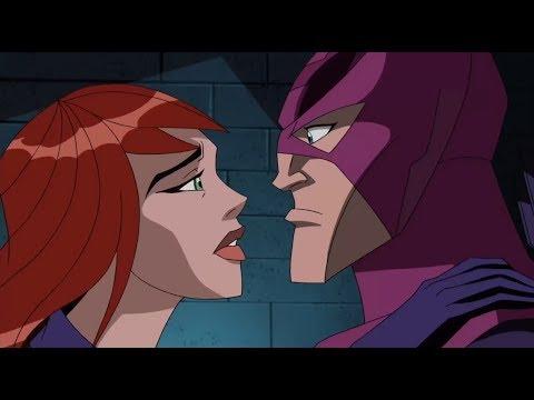 Hawkeye and Black Widow kiss
