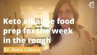 Keto alkaline food prep for the week in the rough Video