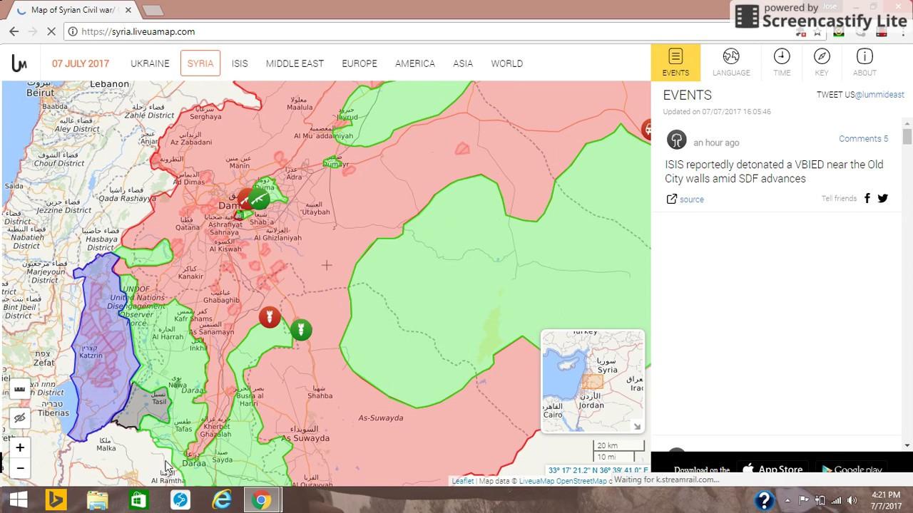 7 De Julio De 2017 Mapa De La Situación Militar En Siria E Irak