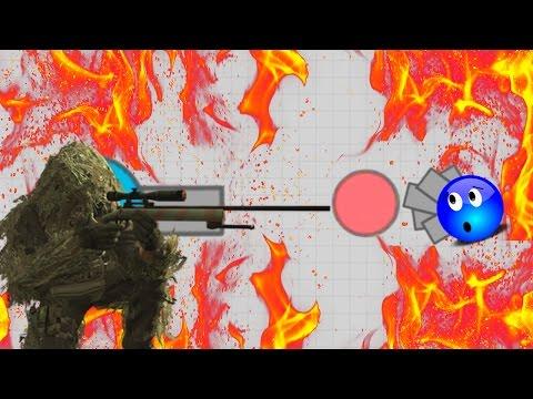 52K+ Assassin Sniper Tank As Top Player - One Shot Kill - Diep.io Sniper Tank - Agar.io With Tanks
