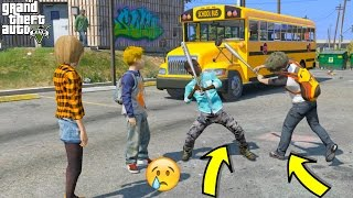 GTA 5 REAL LIFE TEEN MOD #12 OMG! HIGH SCHOOL FIGHTS!!
