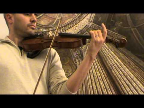 Antique German 4/4 violin # 616