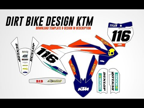 Motocross Graphics Full Design KTM 65 SX Graphics Kit in Vector