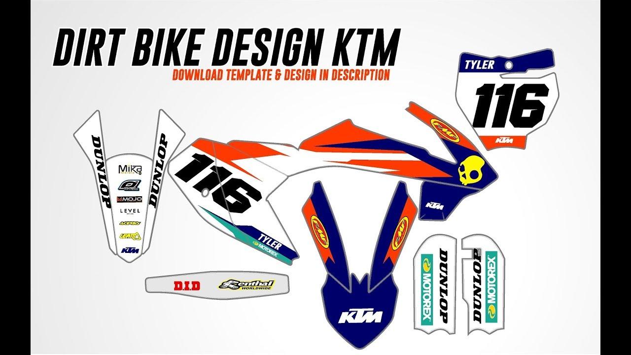 Motocross Graphics Full Design KTM 65 SX Graphics Kit in Vector