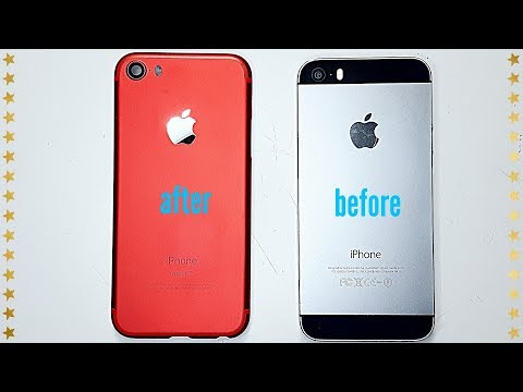 IPhone 5s / 5se Conversion Tuning to Unique IPhone 7 mini !! ProductRed !! English FullHD 2017