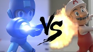 Super mario vs Megaman in real life (special effects)