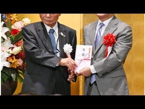 古賀常次郎さん、50団体に寄付 -...