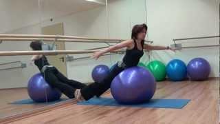 Упражнения для спины   с  мячом Exercises for the back with the ball(Помните, что, тренируя и растягивая позвоночный столб, мы усиливаем мускулы и связки, которые будут держать..., 2012-12-28T13:07:07.000Z)