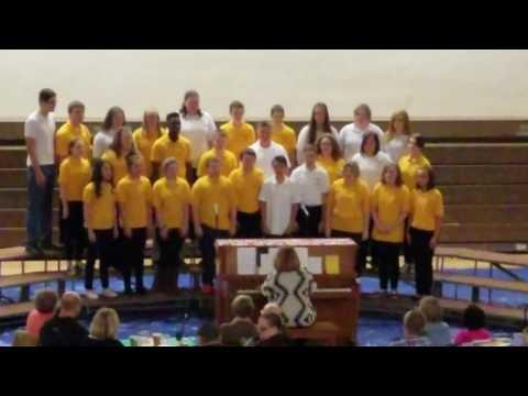 "East Prairie Middle School 7th & 8th Grade Choir performing ""Stodola Pumpa"""