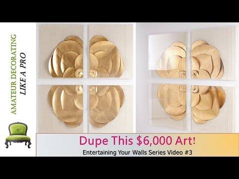 Dupe This $6,000 Art W/ Dollar Tree Poster Board | Entertaining Your Walls Series Video #3
